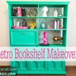 Green Retro Bookshelf Makeover