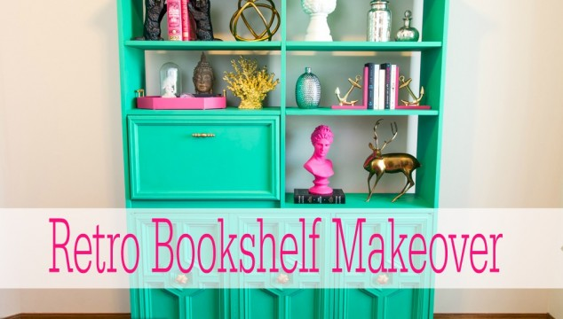 Retro-Bookshelf-Makeover