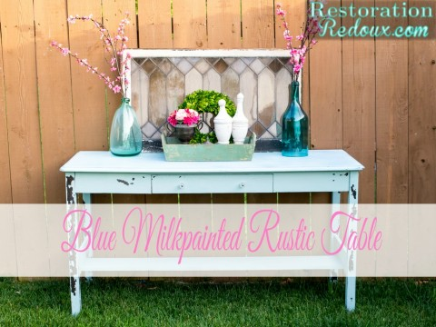 Blue Rustic Table