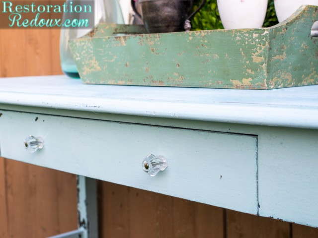 Blue Milkpainted Rustic Table