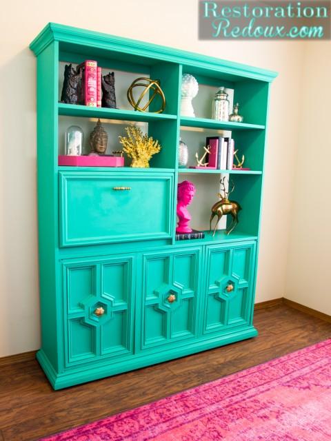 Turquoise-Retro-Bookshelf