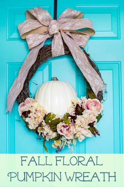 Fall Floral Pumpkin Wreath