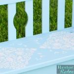 Blue Little Love Bird Bench
