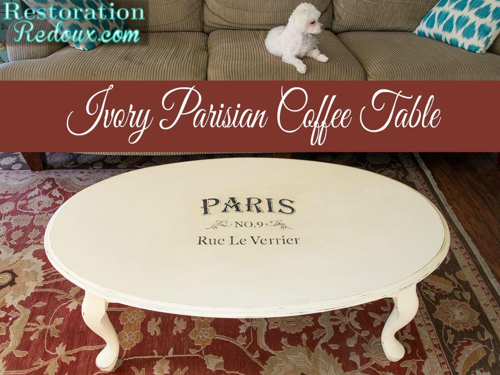 Ivory Parisian Coffee Table