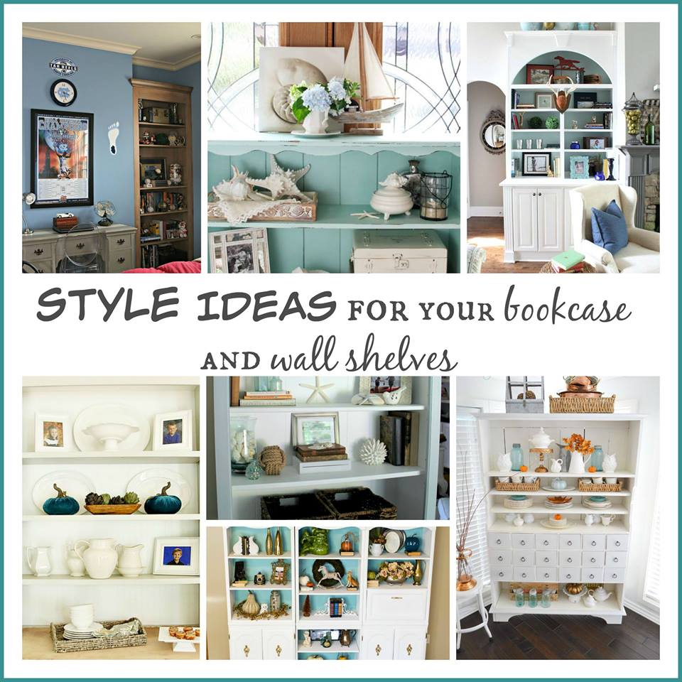 Styling Ideas for Your Bookcase and wall shelves - Craigslist Ivory Bookshelf Makeover - Restoration Redoux