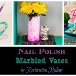 Nail Polish Marbled Vase