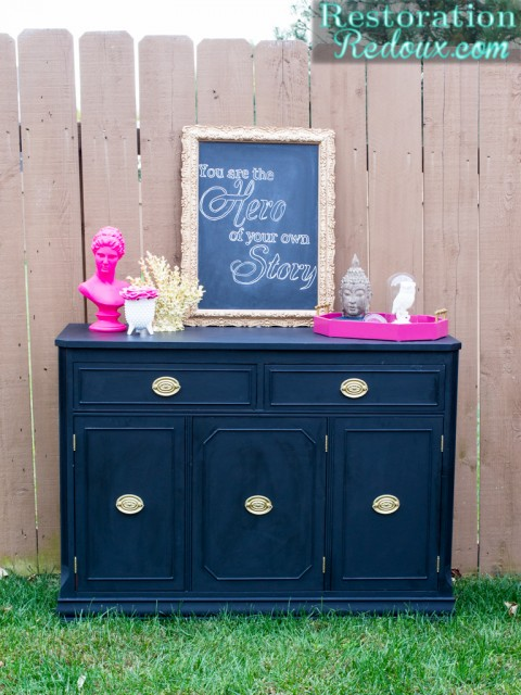 Black-Vintage-Buffet-Makeover