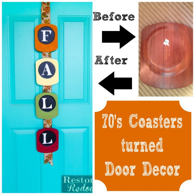 Coasters-turned-Door-Decor