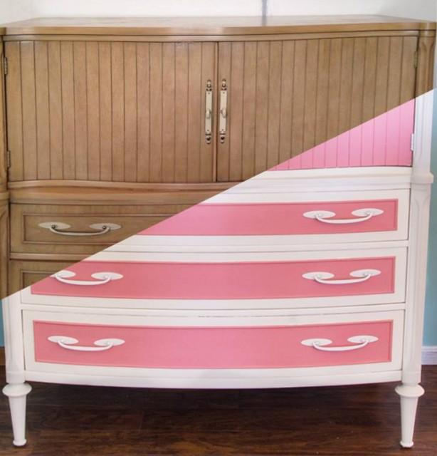Pink-Vintage-Dresser-BeforeandAfter