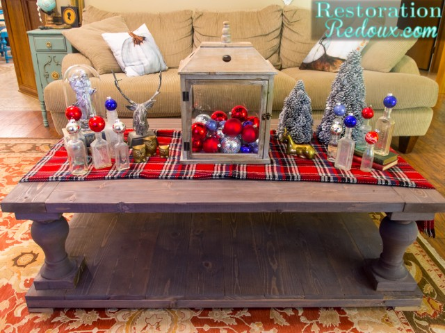 Rustic Christmas Coffee Table