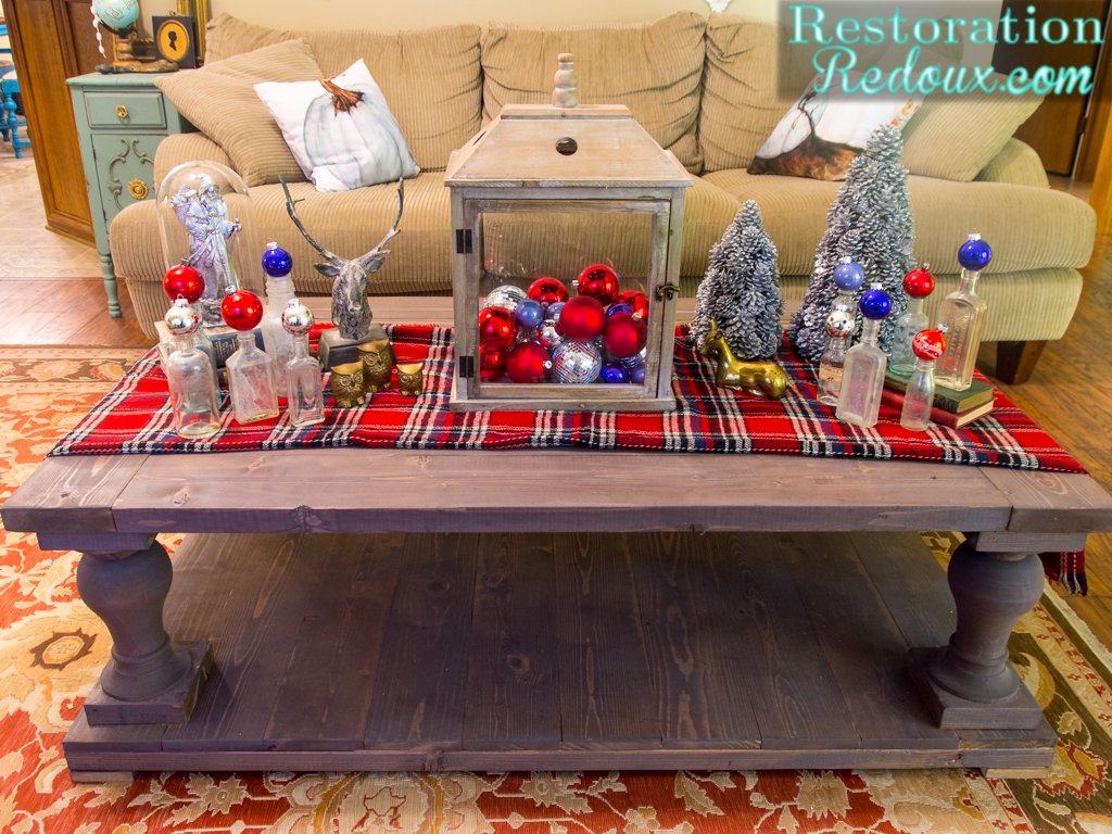 Rustic christmas coffee table daily dose of style