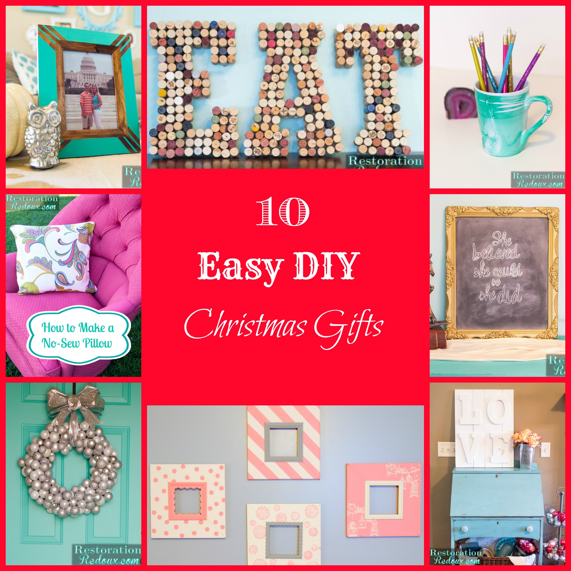 10 Easy Diy Christmas Gifts