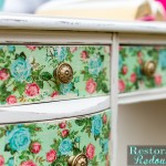 Vintage Decoupaged Desk