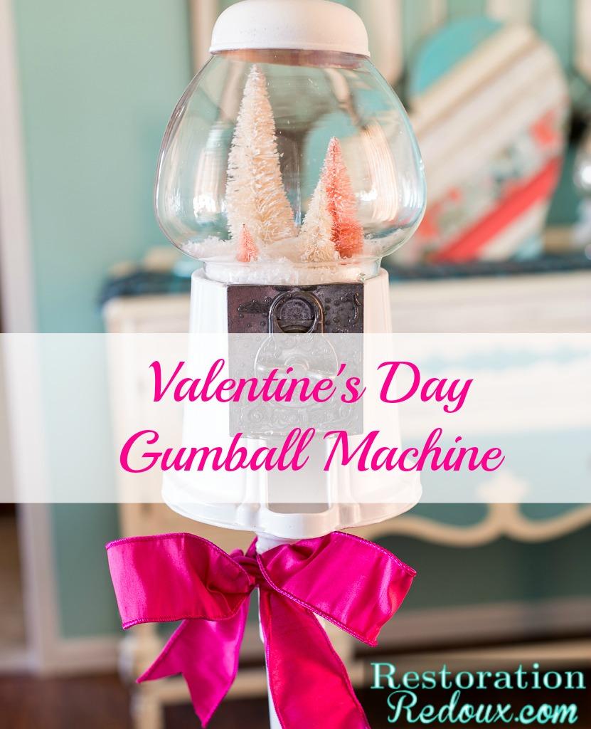 Valentine's Day Gumball Machine