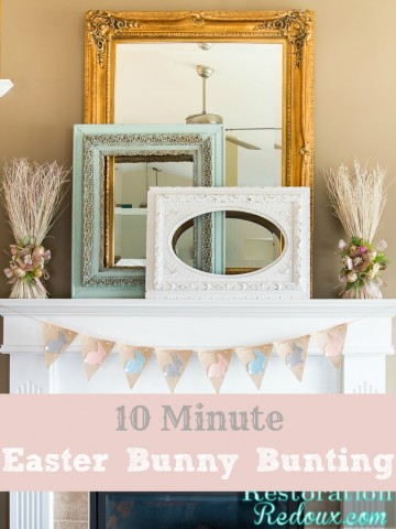 10 Minute Easter Bunny Bunting