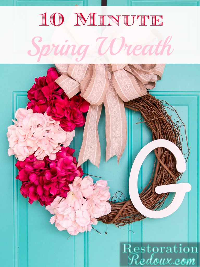 10 Minute Spring Wreath