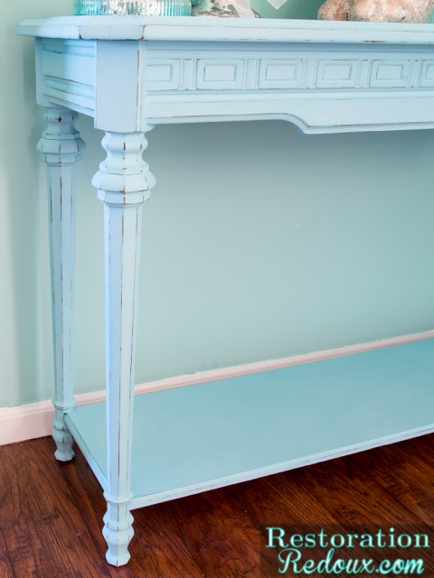 Blue-Console-Table