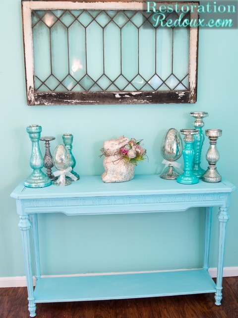 Blue-Painted-Console-Table