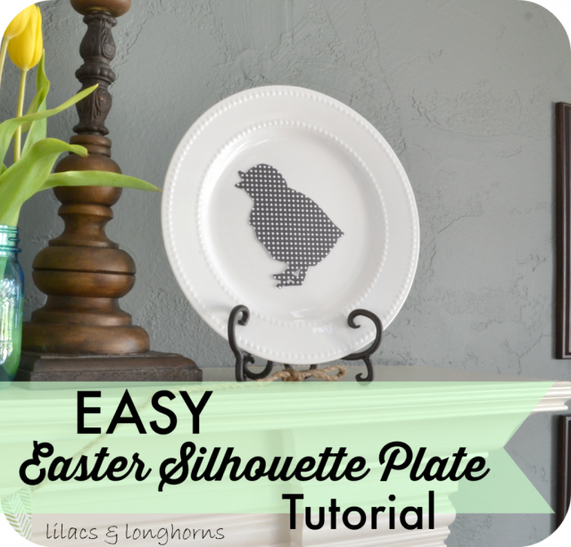 Easter silhouette plate tutorial