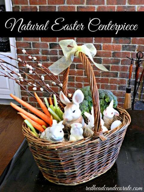 Natural Easter Centerpiece