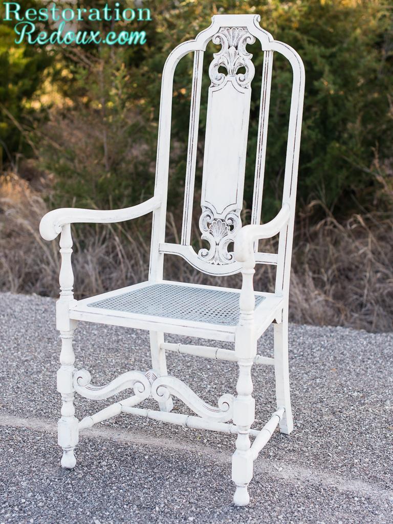 Vintage Cane Bottom Chair Makeover