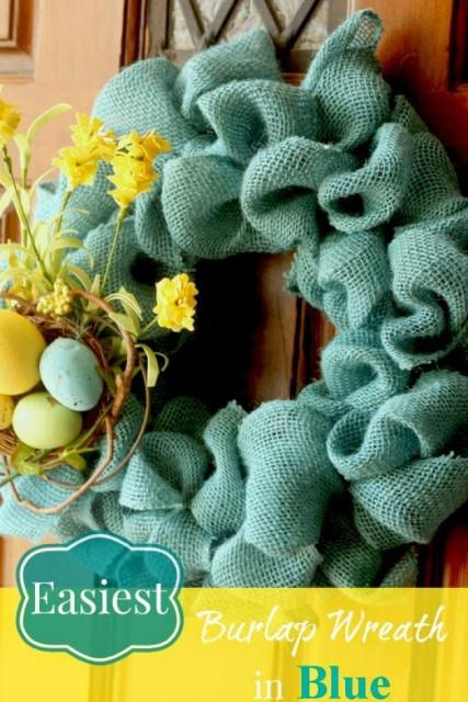 Easiest Burlap Wreath