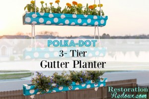 Polka-Dot-3-Tier-Hanging-Gutter-Planter