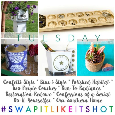 Swap It Like It's Hot-Succulent Planter & Upcycled Cake Plate