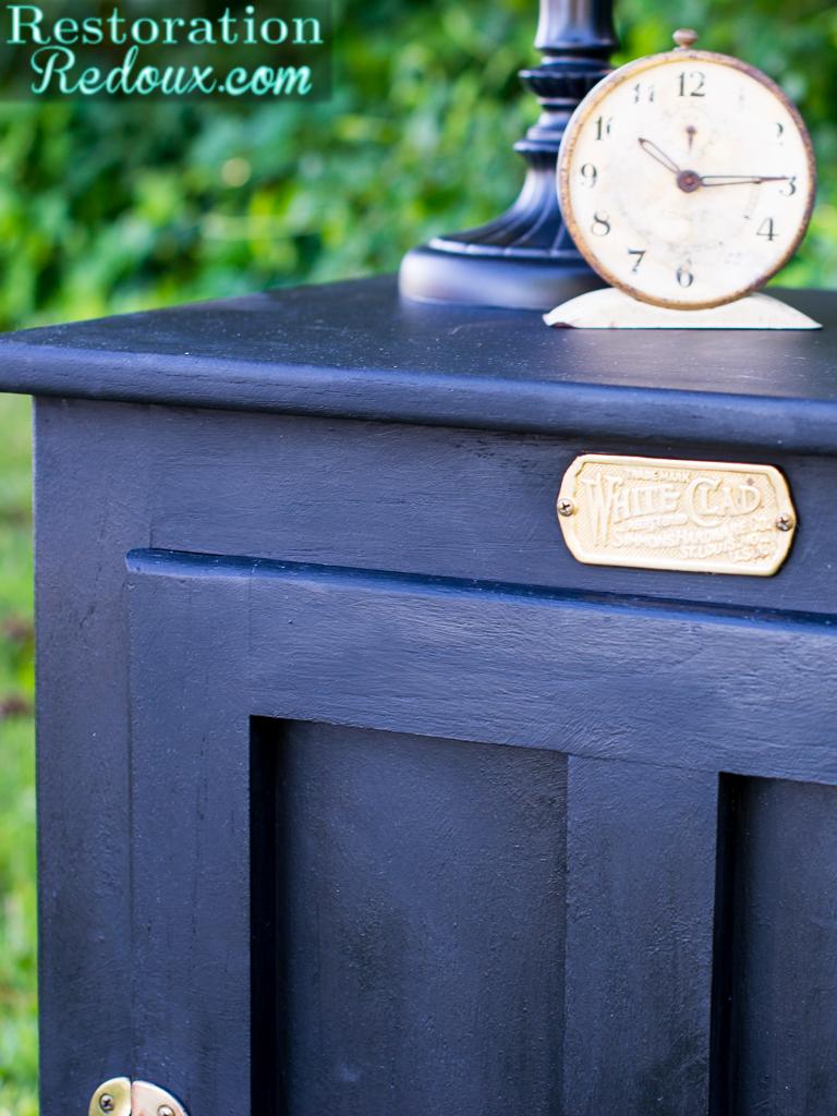 Black Painted Vintage Icebox