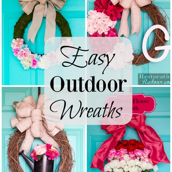 Easy Outdoor Wreaths