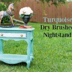 Turquoise-DryBrushed-Nightstand