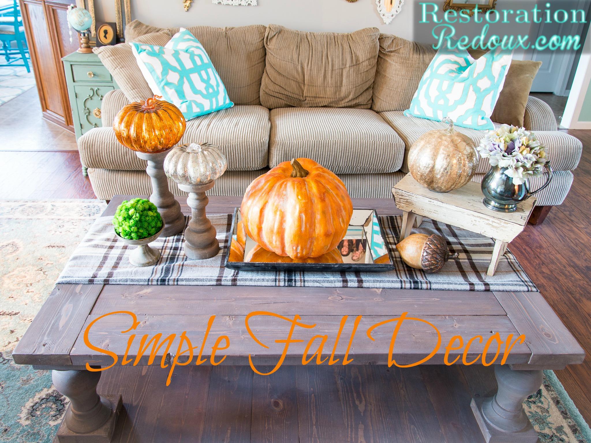 Simple Fall Decor