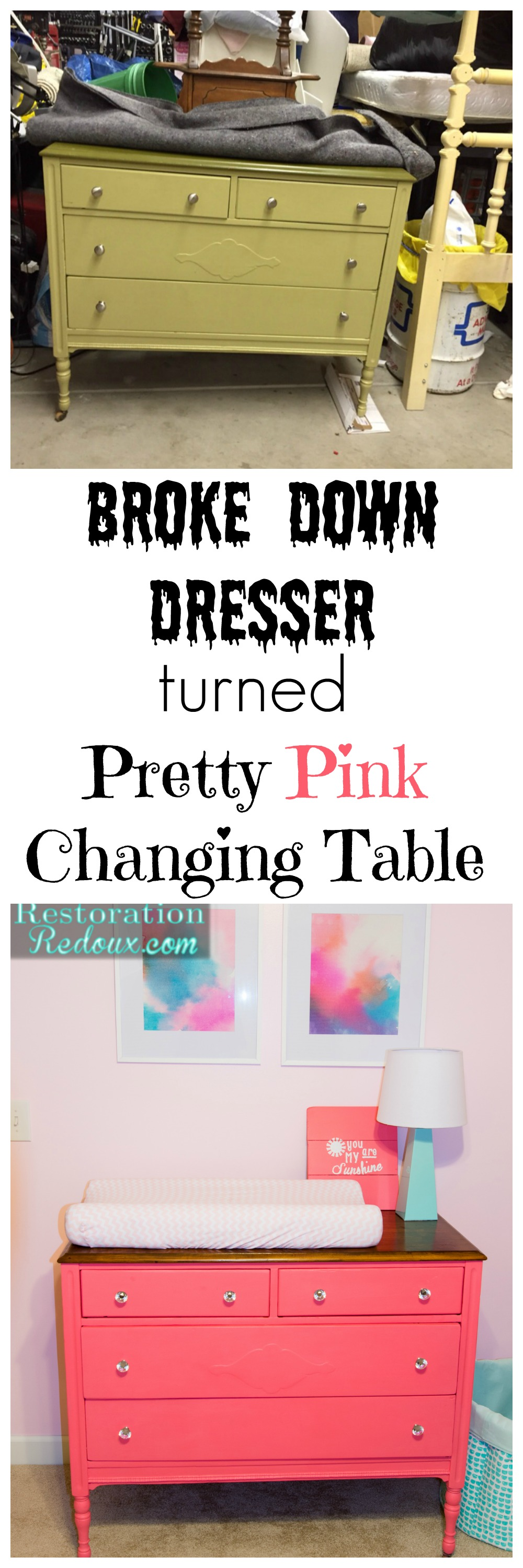 dresser-turned-changingtable