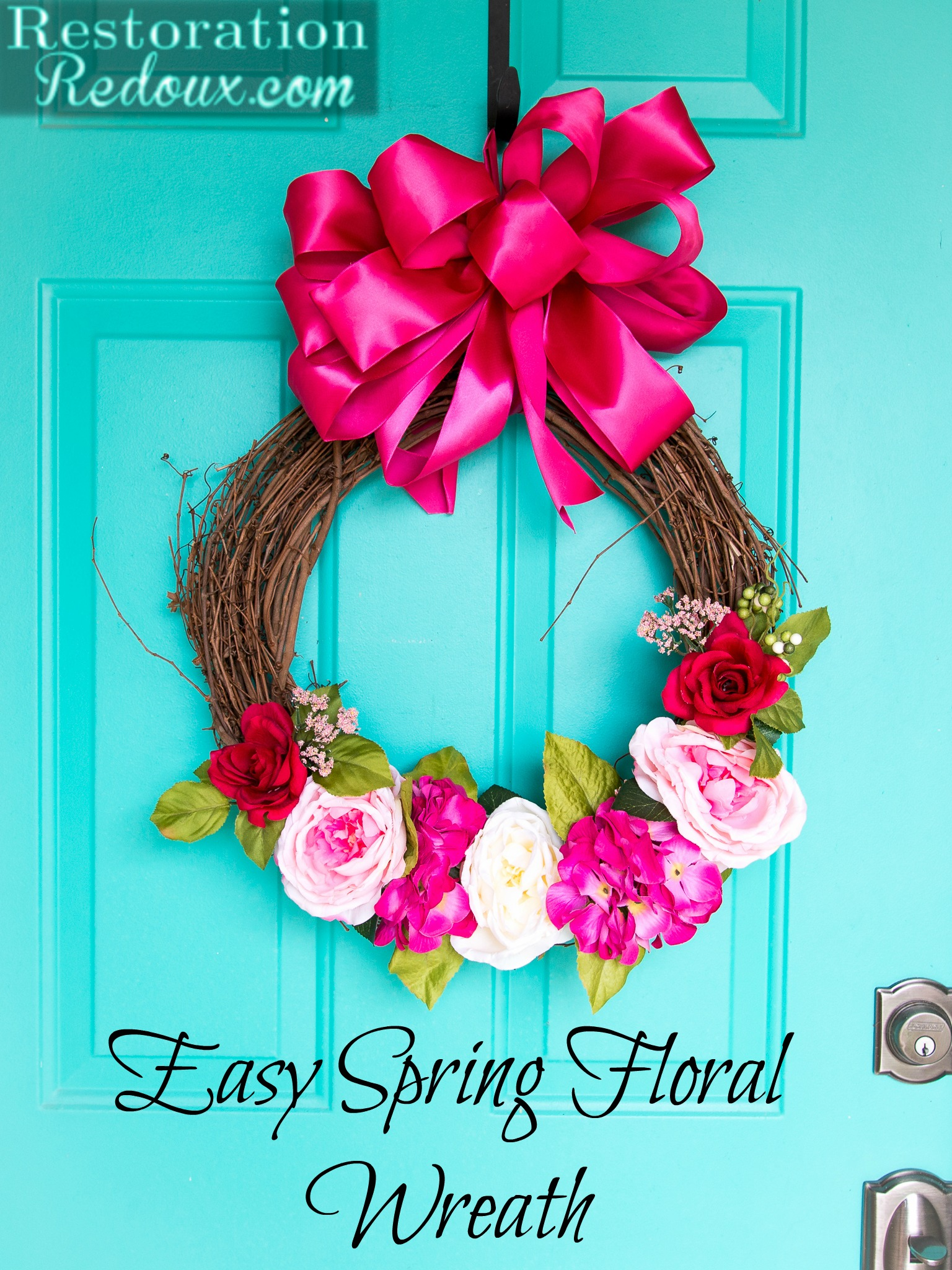 Easy Spring Nail Art With Kester Black: Easy Spring Floral Wreath