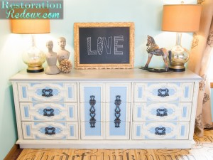 Retro Dresser Turned TV Console